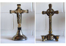 Two ART DECO crucifix