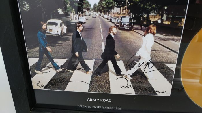 The Beatles Abbey Road Gold Presentation Disc