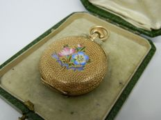 Elgin - richly decorated ladies' pocket watch - ca 1880
