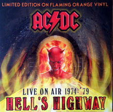 Lots Of 3 Live Albums By AC/DC All Limited Edition Color, Gone Rockin, WKDF FM Nashville, 8th August 1978 Color Burgundy, Hot As Hell, Broadcasting Live 1977 - '79 Color Flaming, Hell's Highway Color Orange
