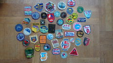 A lot with 47 fishing sports badges patches from the period 1945-1980