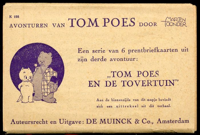 Tom Puss - 3rd set of picture postcards - Tom Poes en de tovertuin - (1942)