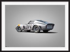 Ferrari Colors of Speed - fine art print - Ferrari 250 GTO - Tour de France - 70CM X 50CM