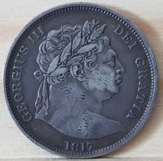 United Kingdom -- ½ Crown 1817 George III -- silver