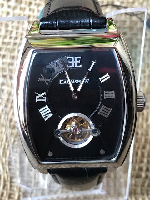 Thomas Earnshaw ES-8044-01 - Mens Watch with Analog Dial and Black Leather Strap new 2017