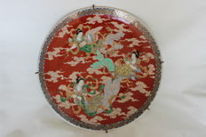 Enormously large porcelain dish - decoration of heavenly figures - around 1900