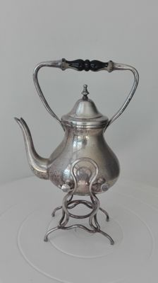 Silver plated vintage Chocolate Kettle with spout, early 1900s