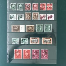 German Reich 1935/1942 - selection with gum variations, i.a. ´Braune band´ and ´Reich party leaders´ - Michel 569/813
