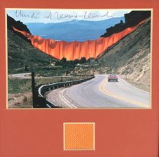 Christo and Jeanne Claude - Curtain Valley Rocky Mountains
