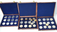 Europe - lot of various ECU medals 1992/1998 (40 pieces) in cases