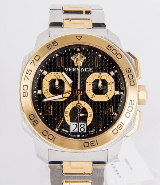 Versace - Model: Dylos tweekleurige VQC100016 - Swiss made mannen chronograaf horloge - nieuwstaat - Never worn