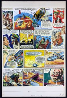 Hampson, Frank - Pagina originale (p.18) - Dan Dare - The Red Moon Mistery - (1951)