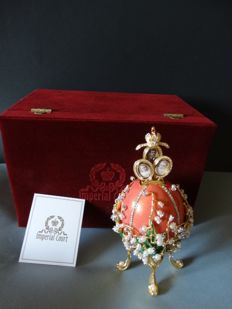 Imperial egg - extremely rare! - luxe edition - private collection - Swarovski rhinestones ( + de 500 ) - 24 k gold finish ( 1 kg / 22 cm )