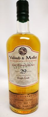 Caledonian 29 years old by Valinch & Mallet (Lost Dram Collection Closed Distillery) 49.7% abv, distilled in 1987 and bottled in 2016 - no. 107 of 146 bottles.