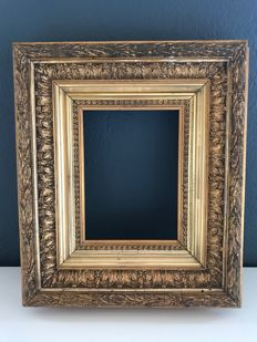 Picture frame antique gilded