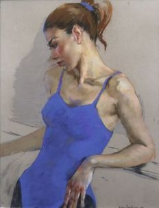 Katya Gridneva - Dancer in Electric Blue