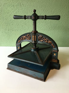 Antique cast-iron book press