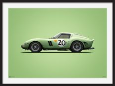 Ferrari Colors of Speed - fine art print - Ferrari 250 GTO - 24 Heures du M - 70CM X 50CM