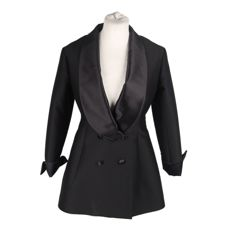 Yves Saint Laurent - Black Wool & Silk Tuxedo Blazer