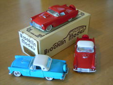 Brooklin Models / Franklin Mint / Rio - Scale 1/43 - Lot with 3 Ford Thunderbird Model cars
