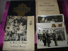 Belgian Royal Family, Leopold 3 & Queen Astrid of Belgium - lot with 3 books, 2 prints and 13 original press photos