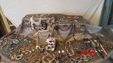 Large lot 140  pieces of jewelry and watches