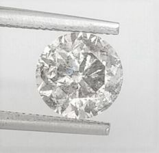 Round Brilliant Cut  - 1.61 carat - F color - SI3 clarity- Comes With AIG Certificate + Laser Inscription On Girdle