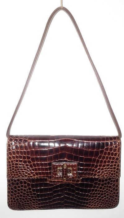 4ef1a2db7329 Gucci - Vintage bag in porosus crocodile leather - Collector's item ...