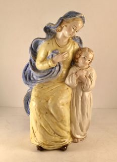 Vintage Madonna and Jesus Figurine