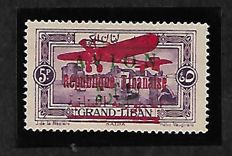 Ex-French Colony Grand Liban 1928/1930 - Airmail. Variety with surcharge error from Yvert n° 34 on the n° 11 signed A BRUN