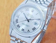 Rolex 16234 18K White Gold & S/S DateJust Automatic Watch!