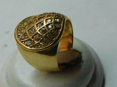 18 kt gold ring, internal dimensions: 18.9 mm