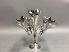 Silver plated table piece, for flowers decoration op dinner table, England, ca. 1900