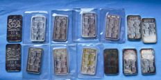 12 ingots 30 grams each with calendar - 2 Colombian celebrations ingots, 20 grams each