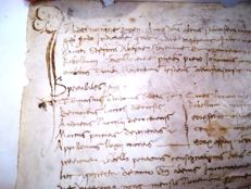 Manuscript, 3 legal acts on large parchment - Stamped - 16th century