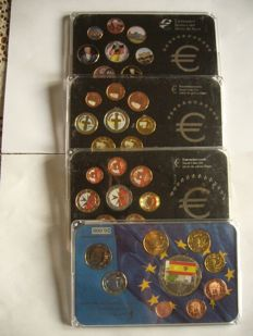 Europe - euro coinset  colored (Allemagne ,Chypre, Malte)  + set coin euro Espagne with coin colored