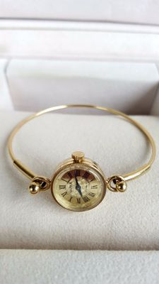 CHAIKA —Soviet CCCP  Gold Plated Ladies Exclusive Wristwatch -1980's