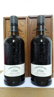 2 bottles - Tobermory 15 years old - limited edition - OB