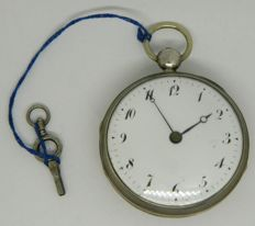 Verge fusee pocket watch with half hour & hour striking and hour repeater system - circa 1835