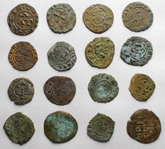 Italian Mints – Lot of 16 Swabian and Aragonese coins from the 12th Century