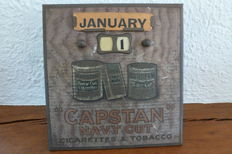 Perpetual calendar by the brand Capstan cigarettes navy cut - Early 20th century