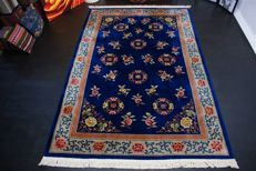 Handwoven original Chinese carpet Oriental approx. 300 x 200cm. Main colour is dark blue