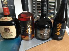 4 bottles - Burn The Barrel, Fujikai 10, Suntory Special Reserve 10 & Suntory Old Whisky