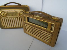 Two tube radios, the Akkord Pinguin M56 and Akkord Jonny 56 from 1956 Germany