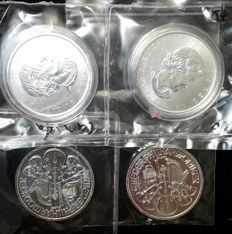 World - Lot of 4 coins (Austria & Canada) 2012/2016 - silver