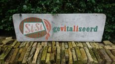 Si-Si gevitaliseerd - since 1951 - advertising sign