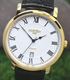 Roamer Swiss Made Classic Gold Plated - Gents Watch - New