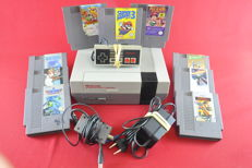 Nintendo NES Console 9 games eg Super Mario Bros. 3, Ducktales, Top Gun and more