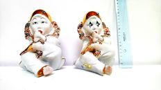 Capodimonte Pierrot, set with Swarovski crystals (2)