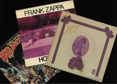 "Mothers of Invention / Frank Zappa : lot of three classic albums including ""Mother's Day (2 LP)"", ""Hot Rats"" and ""200 Motels"" (2 LP)"